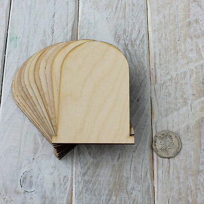6 Pack plywood Fairy Pixie Door Plain Blank Craft Shapes Code Flat CCC