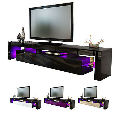"Black High Gloss Modern TV Stand Unit Media Entertainment Center ""Lima V2"""