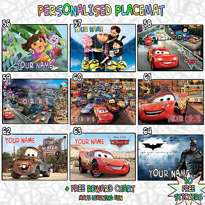 *A4 Kids Personalised Placemat ( A4 Photo Laminate) great stocking filler gift *