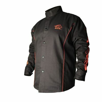 REVCO BX9C-M BSX Black/Red Stryker FR Welding Jackets By Revco-Medium