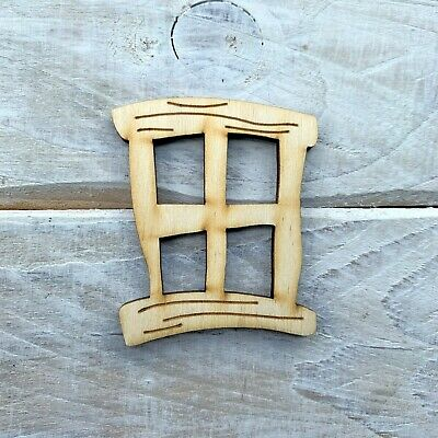 12 Pack Wooden Fairy Door Windows Fairy Door Accessories Square Hobbit Large