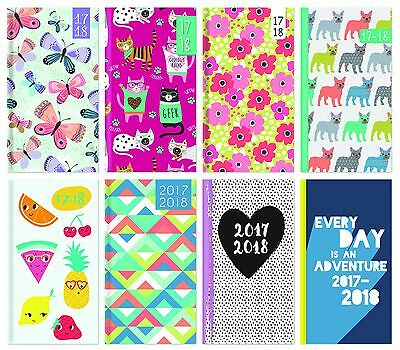 2016-2017 Slim Long Size Academic Mid Year Week to View Diary Teacher Student