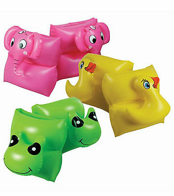 Inflatable Swimming Arm Band Kids Children Gift Float Swim Safety Animal Face
