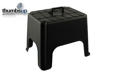 Thumbs Up Step Stool with Carrying Handle Black Home Appliance Kitchen home New