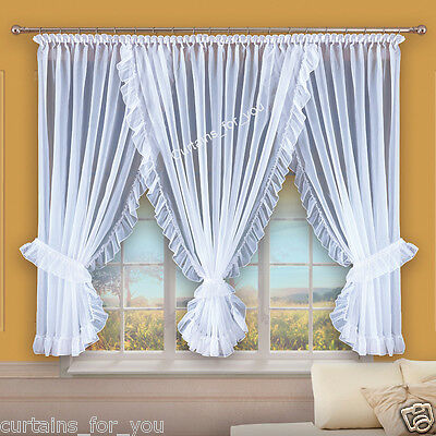 Home, Furniture & DIY LOVELY JACQUARD CURTAINS WITH HEART ORANGE ECRU AMAZING FOR YOU AND KIDS