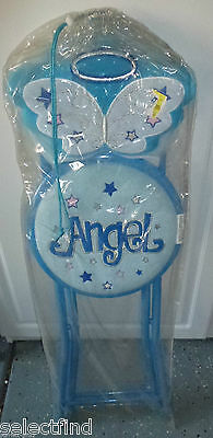 Angel Wings Theme Print Plush Padded Fold Open Child Chair~New~Accent Room Chair