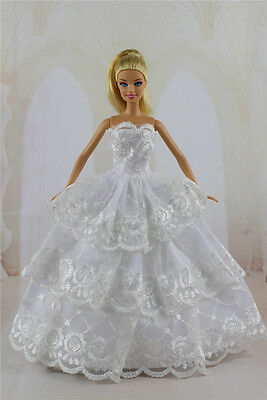Fashion Handmade Princess Dress Wedding Clothes Gown for Barbie Doll Gifts a17