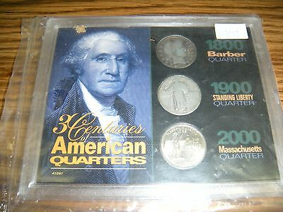collectible coins,quarters,1895 barber,1925 standing liberty,2000 ma state,nr