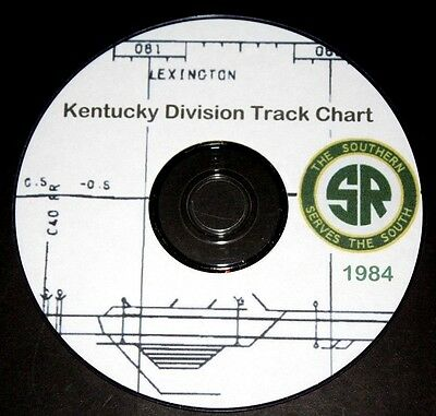 Southern Railway 1984 Kentucky Division Track Chart PDF Pages on DVD