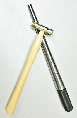 Set Steel Ring Mandrel & Nylon Face Hammer Jewelry Making Tools Sizing & Forming