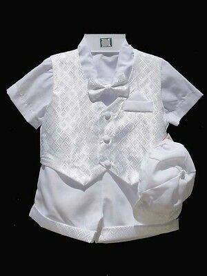 Boys Infant, Toddle Christening Baptism Outfit Set,White Sz: X-Small ,to 4T