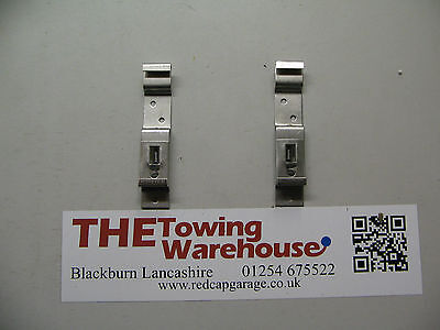 Pair of Stainless Steel Spring Loaded Oblong Number Plate Clips/Holders MP341