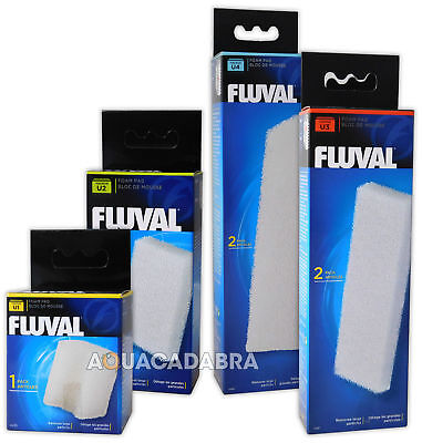 Genuine Fluval U1 U2 U3 U4 Filter Foams Internal Sponge Media Pad Fish Tank