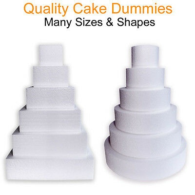 Dummy Cakes Dummies False Tier Polystyrene Decoration Icing Sugarcraft Fake Edge