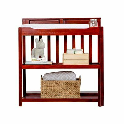 Dream On Me Zoey 3-in-1 Convertible Changing Table in Cherry