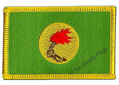 Zaire Flag EMBROIDERED PATCH 8x6cm Badge