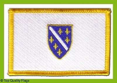 Bosnia old 1992-1998 Flag EMBROIDERED PATCH 8x6cm Badge