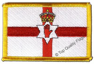 Northern Ireland Flag EMBROIDERED PATCH 8x6cm Badge