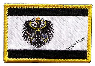 Prussia Flag EMBROIDERED PATCH 8x6cm Badge