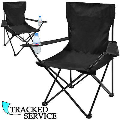 2 x FOLDING CAMPING CHAIR FESTIVAL HIKING FISHING GARDEN INDOOR OUTDOOR SEAT