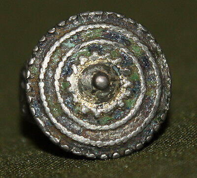 Antique hand made medieval Greek silver ring • CAD $189.00