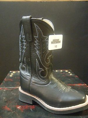 Cowboy Boots SMOKY MOUNTAIN Children's Black Judge in Various Sizes item #3523
