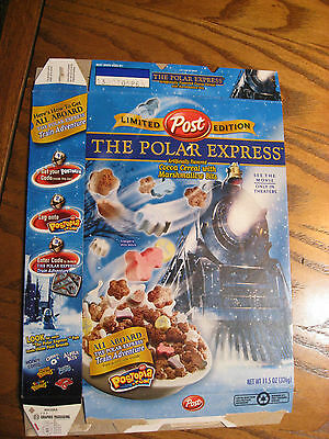Post Limited Edition The Polar Express Empty Cereal Box