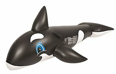 Kids Children Swimming Pool Whale Rider Ride On Inflatable Toy Gift 190 x 92 cm
