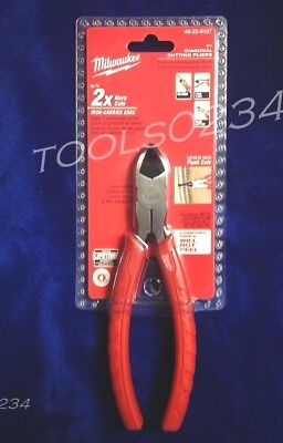 "Milwaukee 48-22-4107 7"" Diagonal Wire Cutting Pliers 6 In 1 Free Ship"