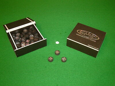 GENUINE KAMUI BLACK AND BEIGE SNOOKER / POOL / TIPS Chesworth Cues Sheffield