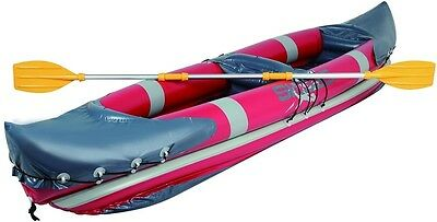 Inflatable Canoe Kayak Sit Fishing Rowing Boat Exploring 2 Seat Persons Touring