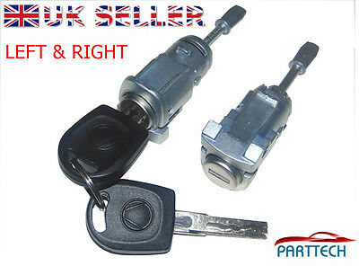 VW MK4 GOLF BORA POLO 9N COMPLETE DOOR LOCK SET + 2 KEYS FRONT RIGHT and EFT