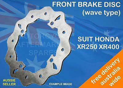 WAVE FRONT BRAKE DISC ROTOR SUIT HONDA XR600R 1988 to 2000