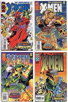 Astonishing X-Men 1995 1-4 Nm Set 1St Prints Age Of Apocalypse Wolverine Magneto