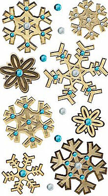 Jolee's Boutique Dimensional Large Stickers ~Wooden Snowflakes
