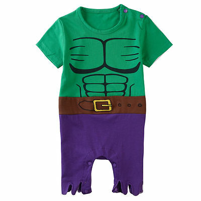 Baby Boy Girl Superhero Costume Romper Newborn Halloween Playsuit Infant Outfits  sc 1 st  PicClick & BABY BOY GIRL Superhero Costume Romper Newborn Halloween Playsuit ...