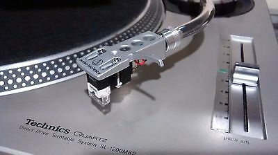 SHURE M447 Competition Turntable Cartridge & Audio Technica Headshell! (Mounted)