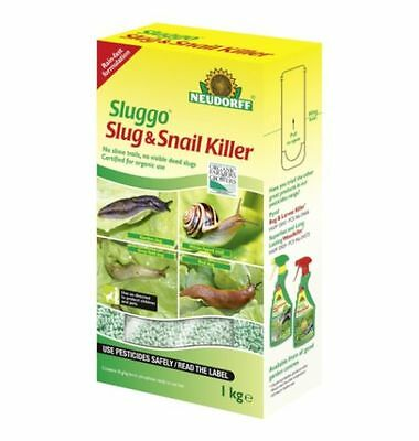 Neudorff Sluggo Slug & Snail Killer Pellets 1kg Organic Pet & Wildlife Safe