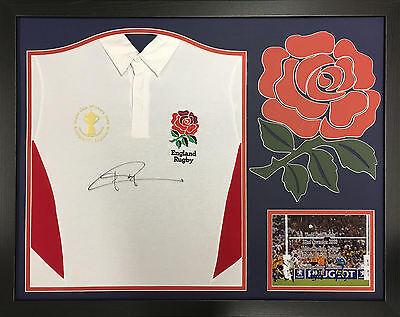 Jonny Wilkinson Framed Signed England Rugby Shirt With World Cup Final Patch