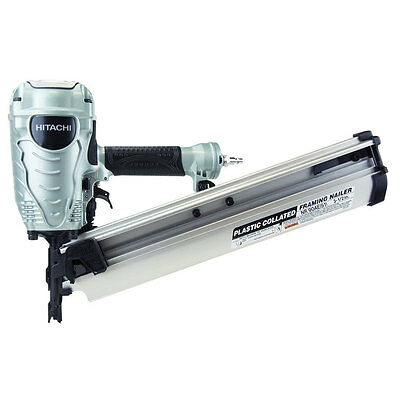 "Hitachi 2"" - 3-1/2"" 21 Deg. Full Round Head Framing Nailer NR90AES1 New"