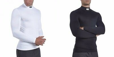 Mens Canterbury Cold Baselayer Long Sleeved Turtle Neck Compression Top Rugby