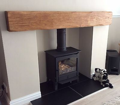 Solid Floating Oak Beam Fireplace/mantelpiece - Free Brackets, Easy To Install