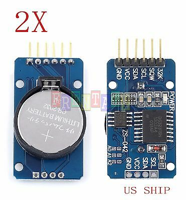 2X PCS DS3231 AT24C32 IIC precision Real time clock module memory module Arduino