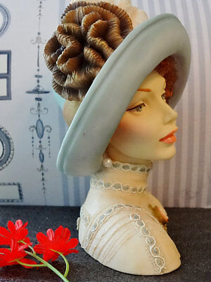 "LADY HEAD VASE CAMEO GIRLS JUDITH 1910 ""TRANSATLANTIC LADY"" 2000 collection"