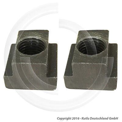 2 Pcs. T-Slot Nuts With M10 Thread