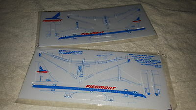 Two Vintage Piedmont Airlines Styrofoam Airplane Sealed