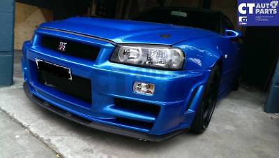 Clear Front Bumper lights Front Signal Lights for 99-02 NISSAN SKYLINE R34 GTR G