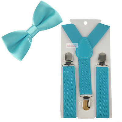 Suspenders Bowtie Bow Tie Matching Ties Baby Boys Child Children Kids YHHtr0003