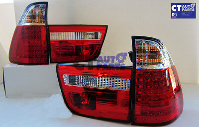 BMW X5 E53 Clear Red LED Tail Lights 99-06 Taillight