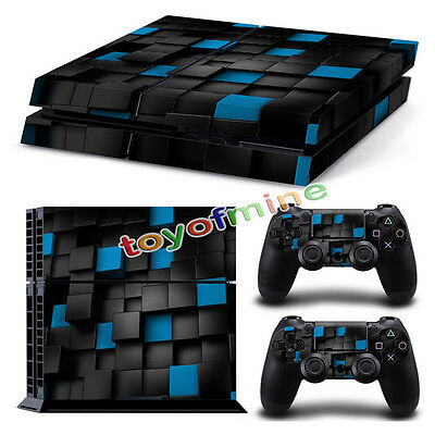 Full Body Skin Sticker Cover Decal For PS4 Playstation Console + 2 Controller